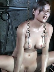 Crazy collection of 3d bdsm, 3d bondage, 3d torture with tons of not-standard sexual bondage mixed with brutal throat jobs, and hard slamming twat pou